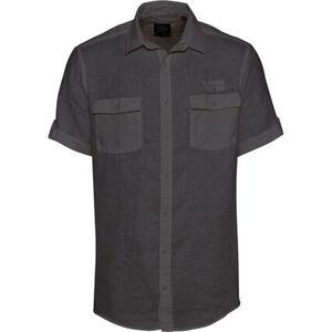 Globetrotter Leinenhemd, Brusttaschen, uni, Kurzarm, Knopfleiste, für Herren