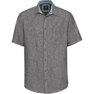 Globetrotter Hemd, Leinenanteil, Brusttasche, Kurzarm, für Herren