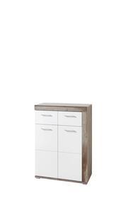 Schuhschrank in Weiß/ Naturfarbe 'Crown-X'
