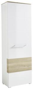 Garderobenschrank in Weiß/ Buchefarbe 'Reno'