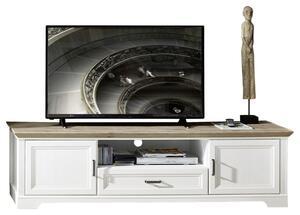 TV-Element in Weiß/Eichefarbe 'Jasmin'