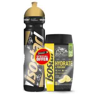 Iso-Getränkepulver Set ISOSTAR HYDRATE&PERFORM Zitrone 560 g + 1 L Flasche