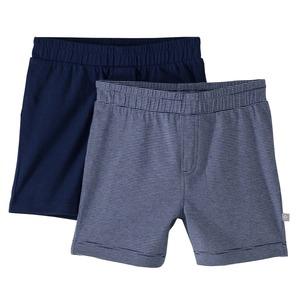 Baby-Jungen-Shorts aus reiner Baumwolle, 2er-Pack