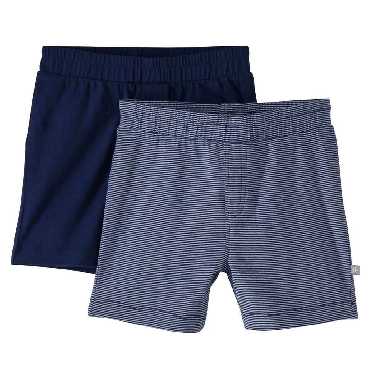 Bild 1 von Baby-Jungen-Shorts aus reiner Baumwolle, 2er-Pack