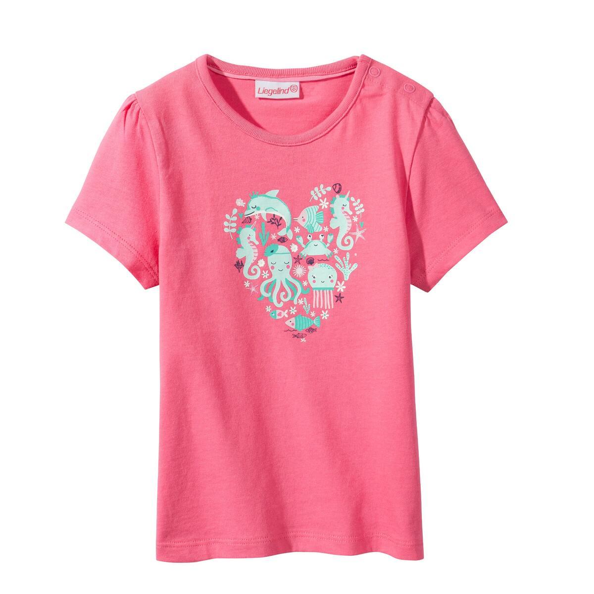 Bild 3 von Baby-Mädchen-T-Shirt mit süßen Delfinen, 2er-Pack