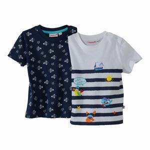 Baby-Jungen-T-Shirt mit maritimen Motiven, 2er-Pack