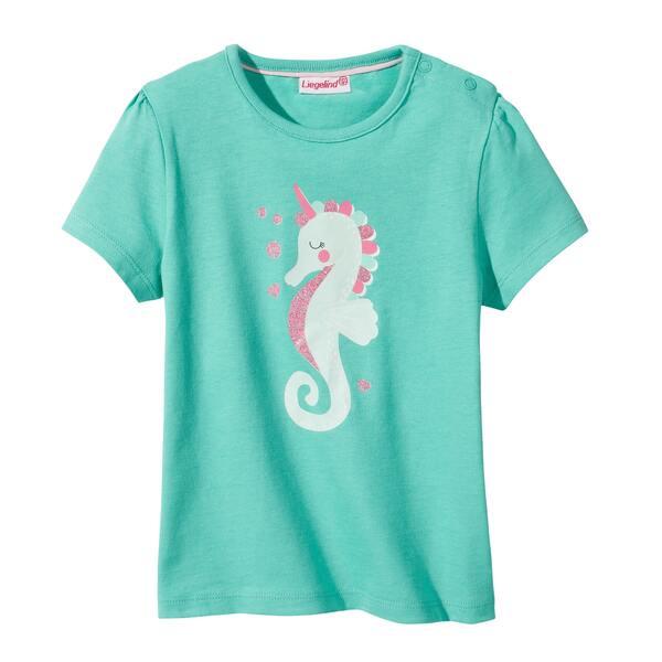 Baby-Mädchen-T-Shirt mit Seepferdchen, 2er-Pack