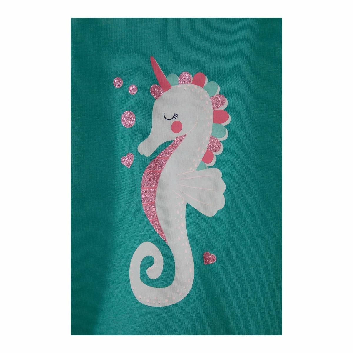 Bild 2 von Baby-Mädchen-T-Shirt mit Seepferdchen, 2er-Pack