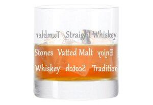 LEONARDO Whiskyglas »Becher, mit Gravur, Stil 04, Tumbler, Geschenk«, Glas