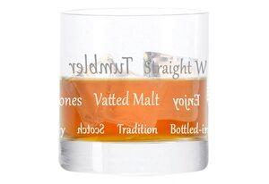 LEONARDO Whiskyglas »Becher, mit Gravur, Stil 05, Tumbler, Geschenk«, Glas