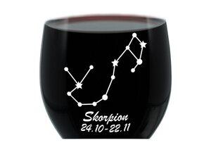 LEONARDO Weinglas »mit Gravur, Sternbild Skorpion, Geschenk«, Glas