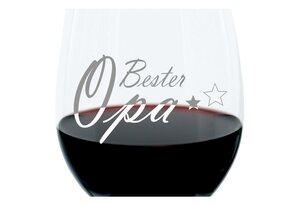 LEONARDO Weinglas »mit Gravur, Bester Opa, Geschenk, 400 ml«, Glas