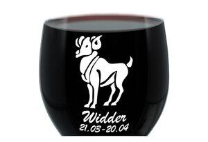 LEONARDO Weinglas »mit Gravur, Sternzeichen Widder, Geschenk«, Glas
