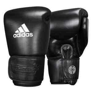 Boxhandschuhe Muay Thai Leder schwarz