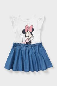 C&A Minnie Maus-Kleid-2-in-1-Look, Weiß, Größe: 110