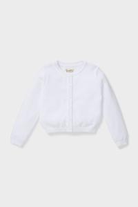 C&A Strickjacke-Bio-Baumwolle, Weiß, Größe: 98