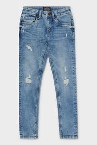 C&A Skinny Jeans-Bio-Baumwolle, Blau, Größe: 128