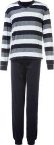 Schiesser Single-Jersey Herren-Schlafanzug  Streifen langarm#lange Hose 60