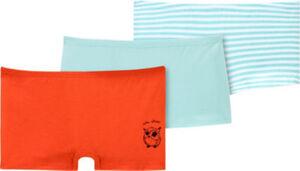 Schiesser Single-Jersey Mädchen-Pants Natural Love im 3er-Pack  Uni#geringelt#Tiermotive  104