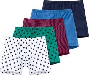 Schiesser Single-Jersey Jungen-Pants im 5er-Pack  Uni#geringelt#Sterne  92