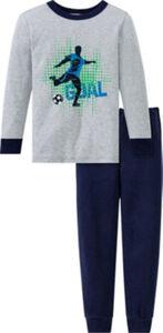 Schiesser Interlock-Jersey Kinder-Schlafanzug  Uni langarm#lange Hose 104