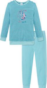 Schiesser Interlock-Jersey Kinder-Schlafanzug  Streifen langarm#lange Hose 92