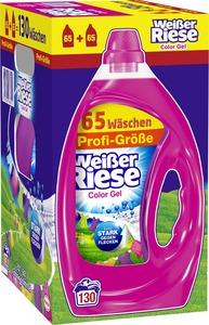 Weißer Riese Color Gel Waschmittel 2x 3,25 Liter ca. 130 Waschladungen