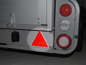 Reflektor-Dreieck Rückstrahler Rot