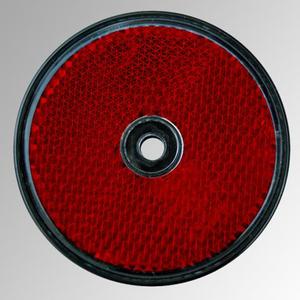 Reflektor rund, 60mm Durchmesser, rot, 2 Stück