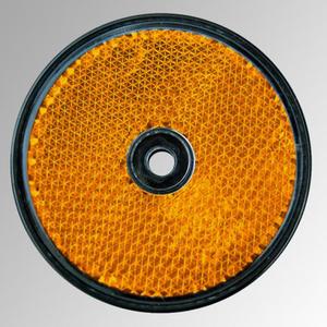 Reflektor rund, 60mm Durchmesser, orange, 2 Stück