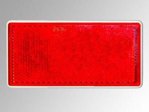 Reflektor rechteckig, 79 x 35 mm, rot, 2 Stück