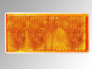 Reflektor rechteckig, 79 x 35 mm, orange, 2 Stück