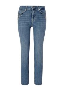 Damen Regular Fit: Jeans mit Strass