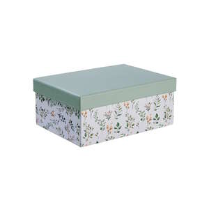 MIA FLEUR Aufbewahrungsbox Floral L 22 x B 16cm