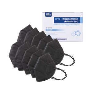 ANBIO Antigen Laien Schnelltest Nasal, 5 Stück & FFP2 Atemschutzmaske 10 Stück