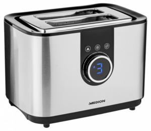 Medion Edelstahl Toaster mit digit. Display MD 10216