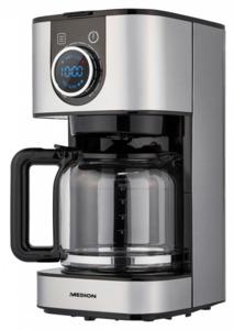 Medion Edelstahl Kaffeemaschine mit digit. Display MD 19480