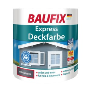 Baufix Express Deckfarbe anthrazitgrau, 2,5 l