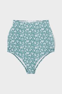 C&A Umstands-Bikini-Hose-High-Rise-geblümt, Grün, Größe: 38