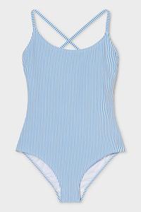 C&A Badeanzug-gestreift, Weiß, Größe: 34