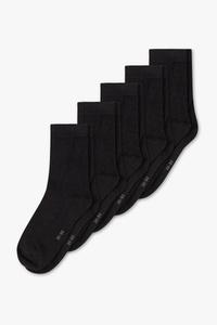 C&A Multipack 5er-Basic-Socken, Schwarz, Größe: 35-38