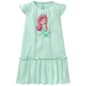 Mädchen Nachthemd mit Meerjungfrau-Motiv