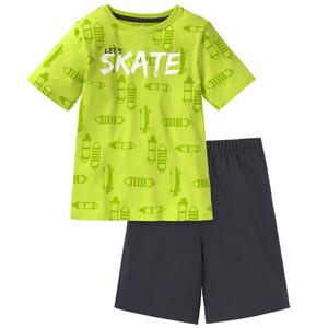 Jungen Shorty mit Skateboard-Motiven