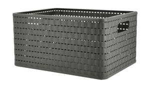 Rotho Aufbewahrungsbox - grau - Kunststoff - 27,8 cm - 19,1 cm - Aufbewahrung