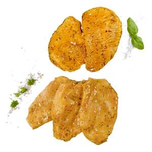 Frische Italienische Hähnchenbrust- oder Puten-brust-Steaks Teilstücke, versch mariniert, je 1 kg