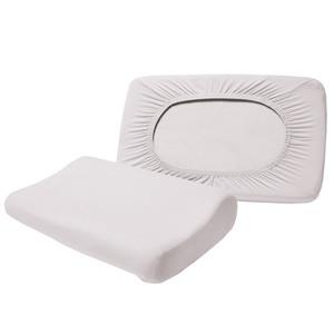 Dreamtex Spannbezüge für Gesundheitskissen, Weiß - 2er-Set