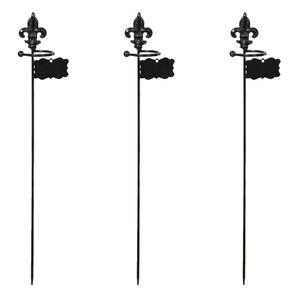 Powertec Garden Pflanzstützen, mit kleinem Ring - 3er-Set