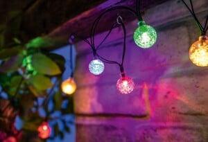 I-Glow LED-Solar-Lichterkette - 20 Kugeln