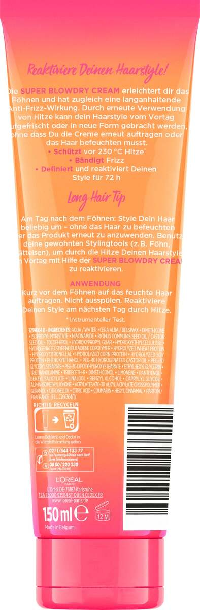 Bild 2 von L'Oréal Paris Elvital Dream Length Super Blowdry Cream