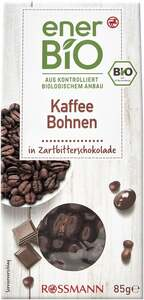 enerBiO Kaffee Bohnen in Zartbitterschokolade